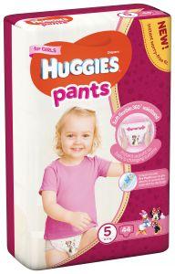 Scutece chilotel Huggies Pants, nr 5, 12-17 kg, Mega, 44 buc, pentru fetite