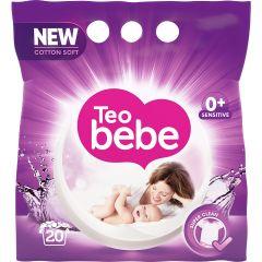 Detergent de rufe pudra Teo Bebe Cotton Soft Purple, 15 spalari, 1.5 kg
