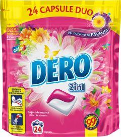 Detergent automat capsule Dero Duo Caps Bujor de munte, 24 spalari, 24 buc
