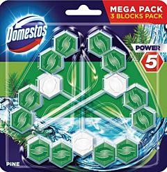 Odorizant vas toaleta Domestos Power 5 Pine, 3 x 55 gr