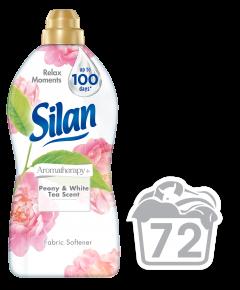 Balsam de rufe Silan AromaTherapy+ Peony & White Tea, 72 spalari, 1.85 L
