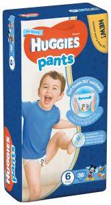 Scutece chilotel Huggies Pants, nr 6, 15-25 kg, Mega, 36 buc, pentru baieti