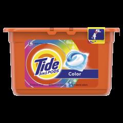 Detergent automat capsule Tide 3in1 PODs Color, 12 Spalari, 12 buc