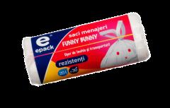 Saci funny bunny Epack, 20l, 30 buc/rola