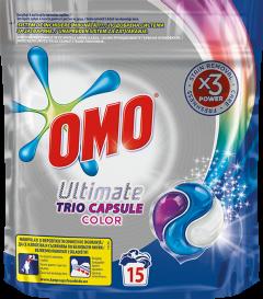 Detergent automat capsule Omo Ultimate Trio Caps Colour, 15 spalari, 15 buc