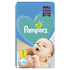 Scutece Pampers New Baby, Marime 1, 2-5 kg, 43 buc