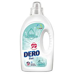 Detergent automat lichid Dero 2in1 Delicat cu pielea, 20spalari, 1L