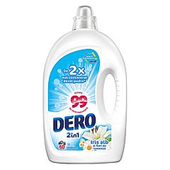 Detergent automat lichid Dero 2in1 Iris alb si flori de romanita, 60spalari, 3L