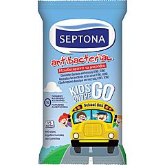 Servetele umede antibacteriene pentru copii, Septona, 15 bucati