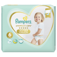 Scutece chilotel Pampers Premium Care Pants, Marime 6, 15+ kg, 31 buc