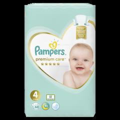 Scutece Pampers Premium Care, Marime 4, 9-14 kg, 68 buc