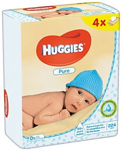 Servetele umede Huggies Pure Quad, 4 x 56 buc