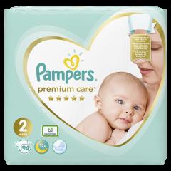 Scutece Pampers Premium Care, Marime 2, 4-8 kg, 94 buc