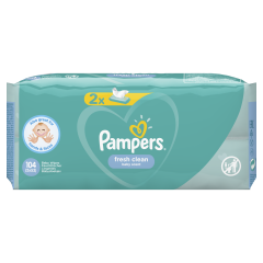 Servetele umede Pampers Fresh Clean, 2 x 52 buc