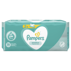 Servetele umede Pampers Sensitive, 2 x 52 buc