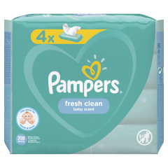 Servetele umede Pampers Fresh Clean, 4 x 52 buc