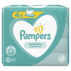 Servetele umede Pampers Sensitive, 4 x 52 buc