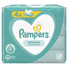 Servetele umede Pampers Sensitive, 4 x 52 buc