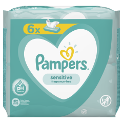 Servetele umede Pampers Sensitive, 6 x 52 buc