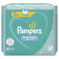 Servetele umede Pampers Fresh Clean, 6 x 52 buc