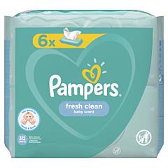Servetele umede Pampers Fresh Clean, 6 x 52 buc