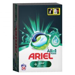 Detergent automat capsule Ariel PODS Plus Unstoppables, 54 spalari, 54 buc.