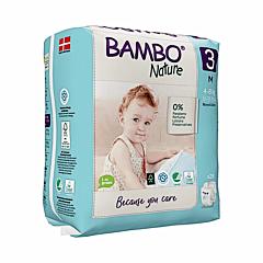 Scutece ecologice pentru bebelusi, Bambo Nature, marimea 3, 4-8 kg, 28 bucati