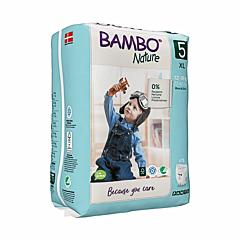 Scutece ecologice pentru bebelusi, Bambo Nature, marimea 5, 12-18 kg, 19 bucati