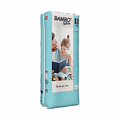 Scutece ecologice pentru bebelusi, Bambo Nature, marimea 6, 16+ kg, 40 bucati
