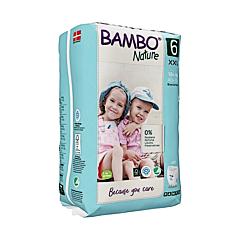 Scutece ecologice pentru bebelusi, Bambo Nature, marimea 6, 18+ kg, 18 bucati