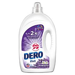 Detergent automat lichid Dero 2in1 Levantica si iasomie, 80spalari, 4L