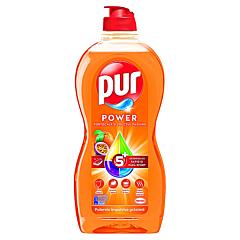Detergent de vase cu portocale si fructul pasiunii, Pur, 450ml
