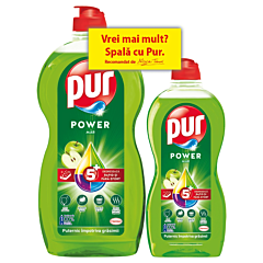 Detergent de vase, Pur Power Mar, 1.2L + 450ml