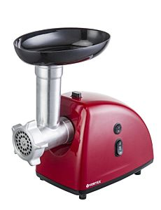 Masina de tocat carne Vortex VO4018RD, accesoriu rosii, 1600 W, Rosu