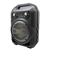 Boxa Activa Portabila Bluetooth, Soundvox BS-12, USB, TF/SD Card, Aux, Radio FM, Lumini, Neagra