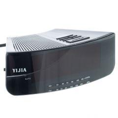 Radio Ceas Digital cu Alarma Yijia YJ-2618, Functie Snooze, Negru-Argintiu