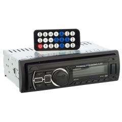 Radio auto bluetooth, MP3/WMA Player Soundvox 374, 4 x 25W, USB, SD, AUX, RCA, panou frontal detasabil, telecomanda