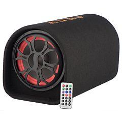 Subwoofer Soundvox JY-1206 de 8, Max. 1000W PMPO, Bluetooth, USB, TF Card, Telecomanda, Negru