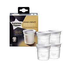 Recipient de stocare lapte matern, Tommee Tippee,  x 4 buc