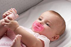 Suzeta silicon Physio soft 6-12 luni roz