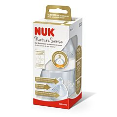 Biberon PP Nuk Nature Sense 150 ml, 0-6 luni