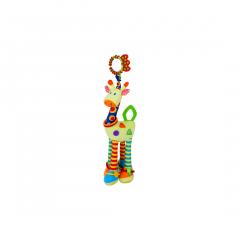 Jucarie zornaitoare din plus, Giraffe, 47 cm, cu chitait, Lorelli