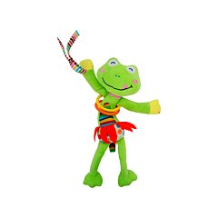 Jucarie zornaitoare din plus, Frog, 30 cm, cu vibratii, Lorelli
