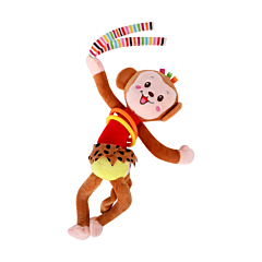 Jucarie zornaitoare din plus, Monkey, 30 cm, cu vibratii, Lorelli
