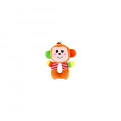 Jucarie zornaitoare din plus, Monkey, 18 cm, Lorelli