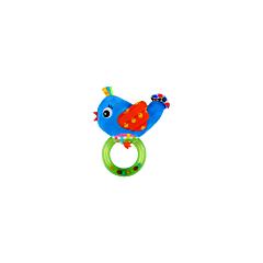 Jucarie zornaitoare din plus, Bird, 18,5 cm, cu inel, Lorelli
