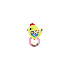 Jucarie zornaitoare din plus, Chicken, 18,5 cm, cu inel, Lorelli
