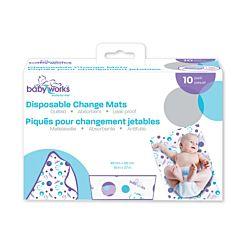 Baby Works Paturici de unica folosinta pt schimbarea scutecului - 10