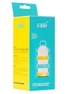 Container lapte praf cu 3 compartimente