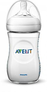 Biberon Natural Philips-Avent SCF033/17, cu tetina debit lent